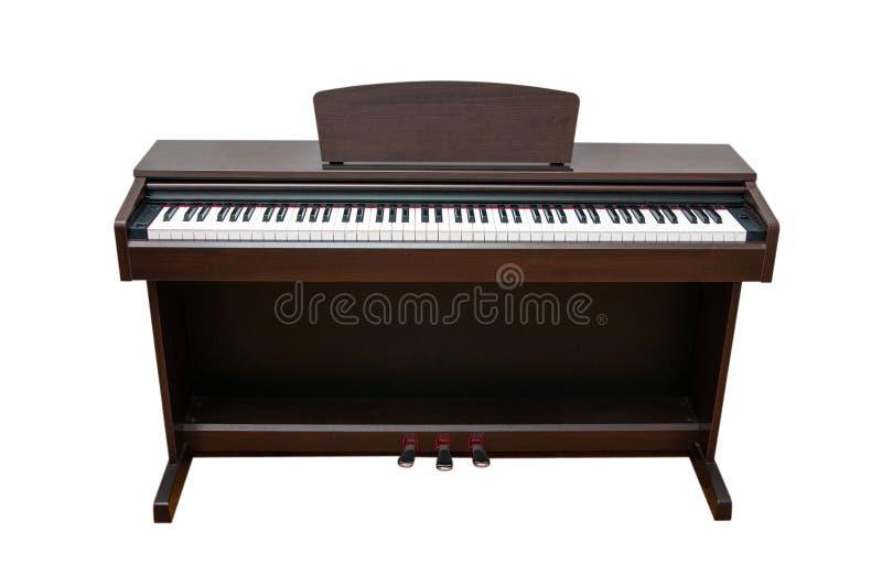 Upright piano. Isolated on white background royalty free stock photos