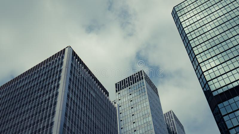 Uprisen Angle Of The Commercial Building royalty free stock images