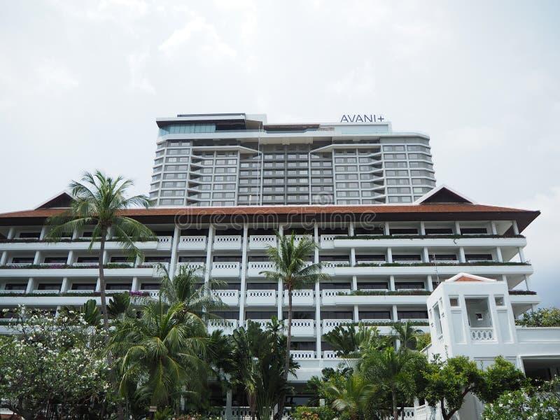Uprisen Angle View of the hotel in bangkok Widok kątowy Anantara Riverside Bangkok zdjęcia royalty free