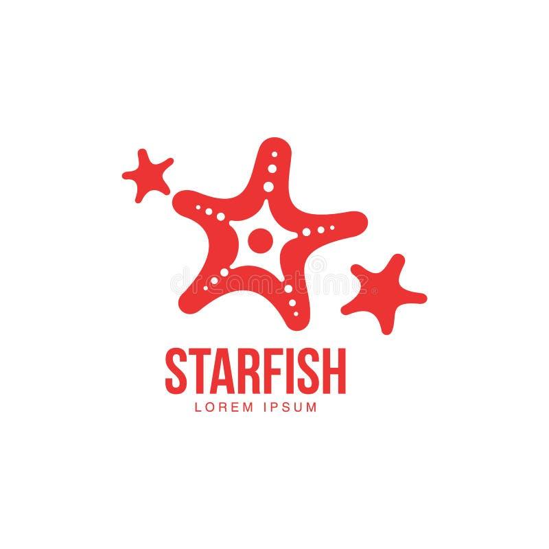 Uproszczony, stylizowany graficzny sylwetki trzy rozgwiazdy loga szablon, royalty ilustracja