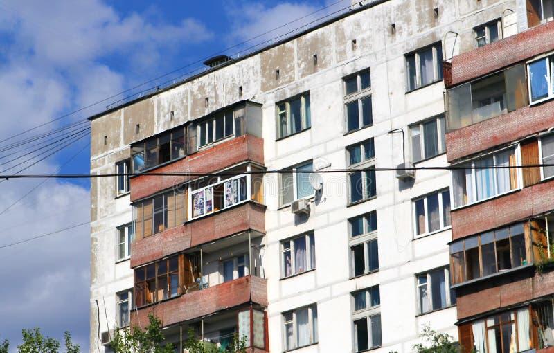 Uprzemysłowiony blok mieszkaniowy w Russia fotografia stock