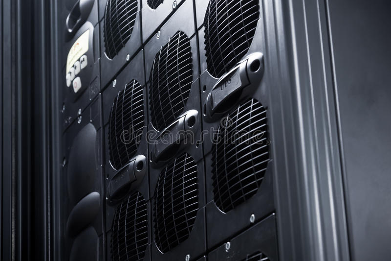 UPS Array in a data center stock images