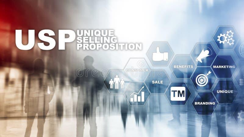 UPS - Asuntos vendedores únicos Concepto del negocio y de las finanzas en una pantalla estructurada virtual Técnicas mixtas ilustración del vector