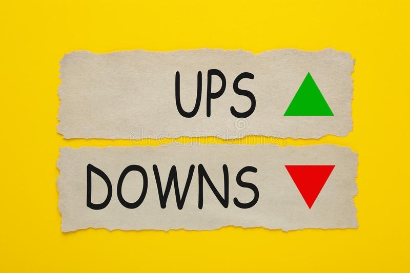 UPS and DOWNS royalty free stock photos