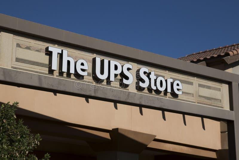 UPS lagertecken royaltyfri bild