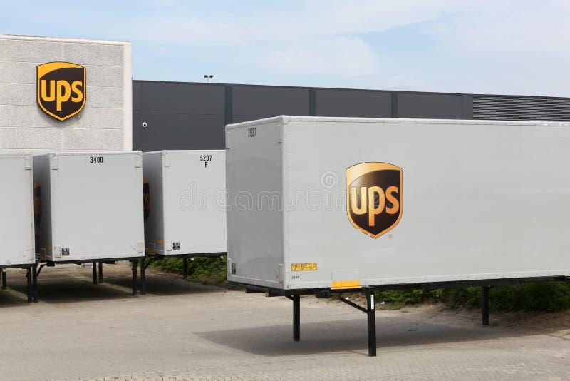 UPS-logistiekcentrum royalty-vrije stock foto's