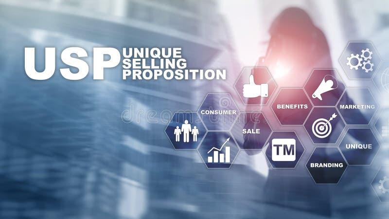 UPS - Proposte di vendita uniche Concetto di finanza e di affari su uno schermo strutturato virtuale Media misti immagini stock