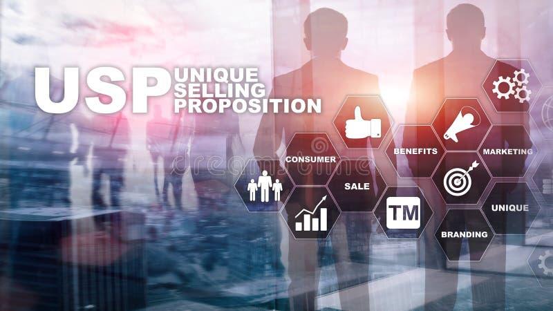 UPS - Proposte di vendita uniche Concetto di finanza e di affari su uno schermo strutturato virtuale Media misti royalty illustrazione gratis