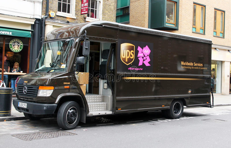 UPS is ready for the olympic games. UPS will assist the London organizing committee of the olympic games to track every essential item.and also will speed royalty free stock photography