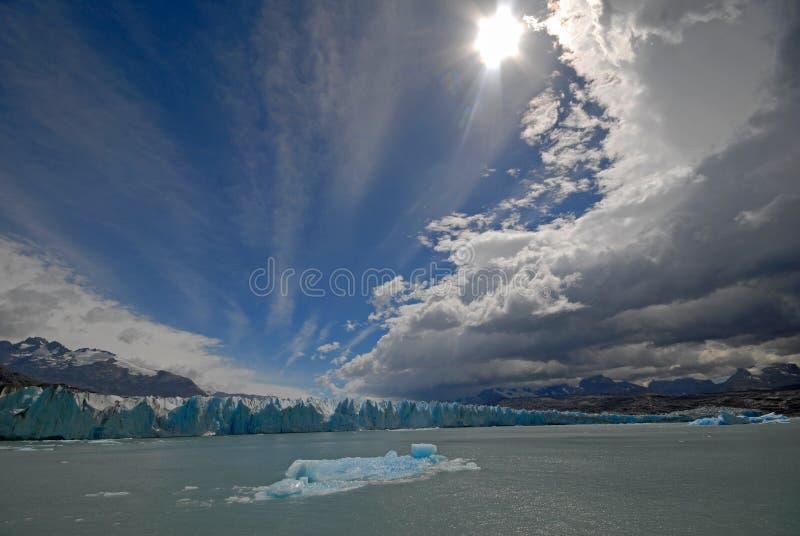 The Upsala glacier in Patagonia, Argentina. stock photo
