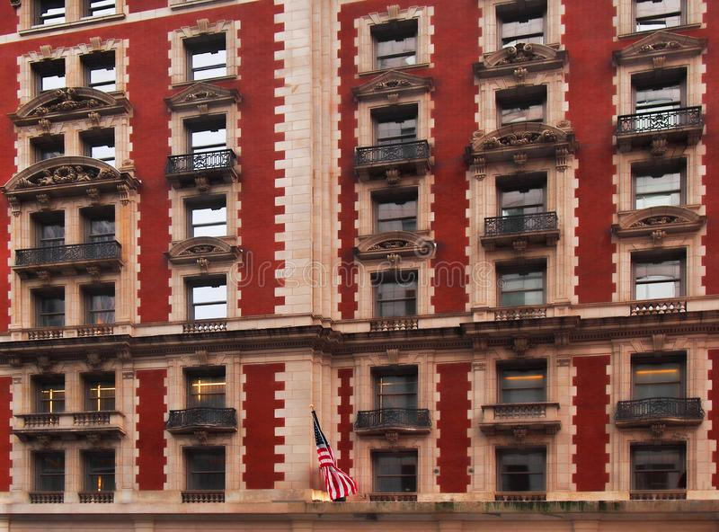 Upscale apartment building. Exterior of an upscale apartment building in New York City stock photography