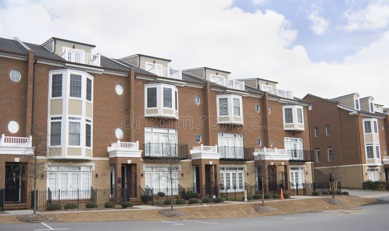 Download Upscale brick condominium stock photo. Image of flat - 17847886