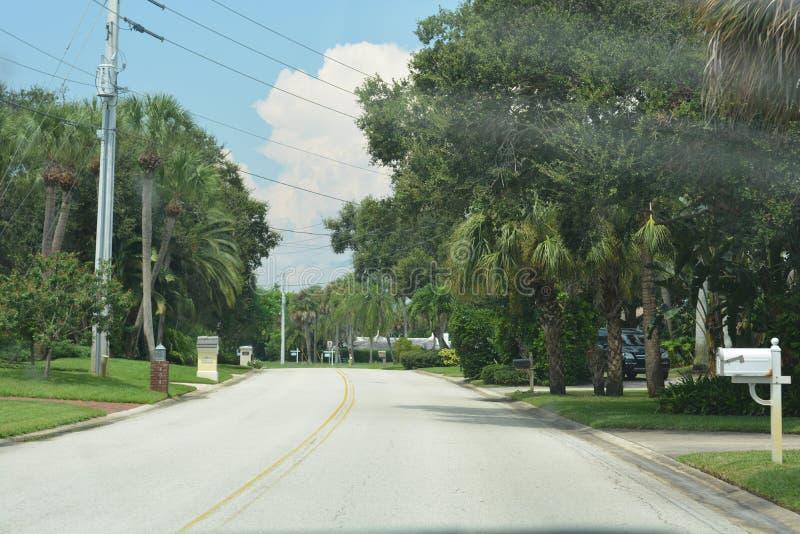 Upscale Coastal Neighborhood stock photo
