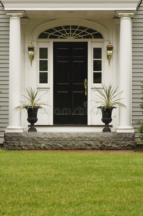 Upscale Home Front Entrance stock images