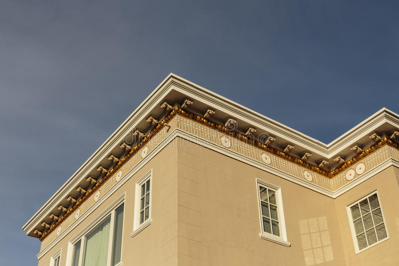 Download Upscale House Roof And Cornice Detail Stock Photo