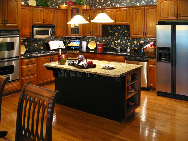 Upscale kitchen horizontal royalty free stock image