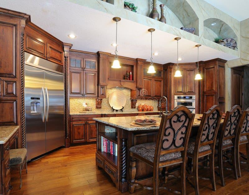Upscale modern kitchen royalty free stock image