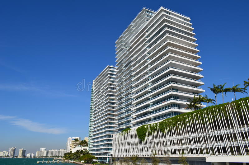 Upscale SoBe Condo Building royalty free stock images
