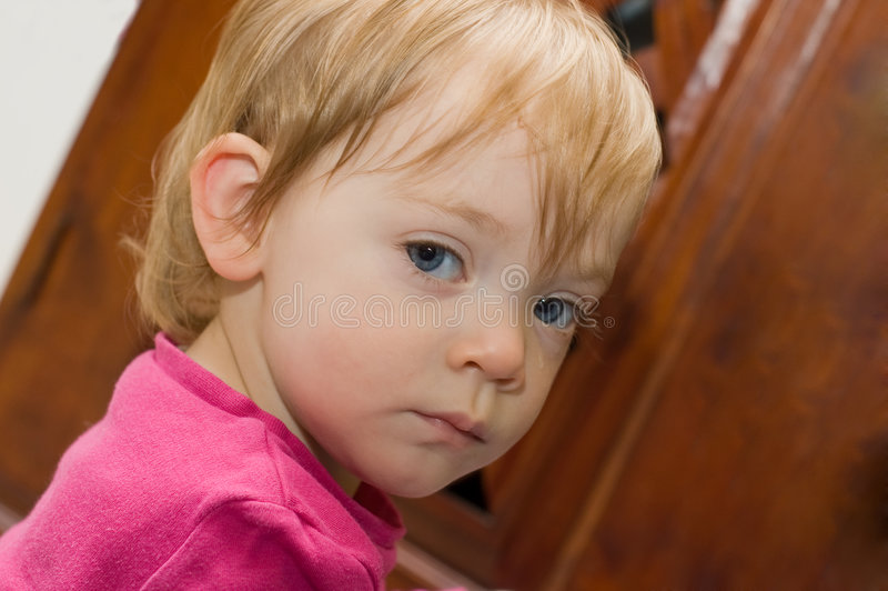 Download Upset stock image. Image of girl, child, caucasian, blue - 5278385