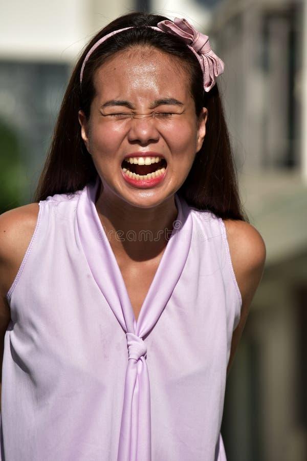 Upset Asian Female stock images