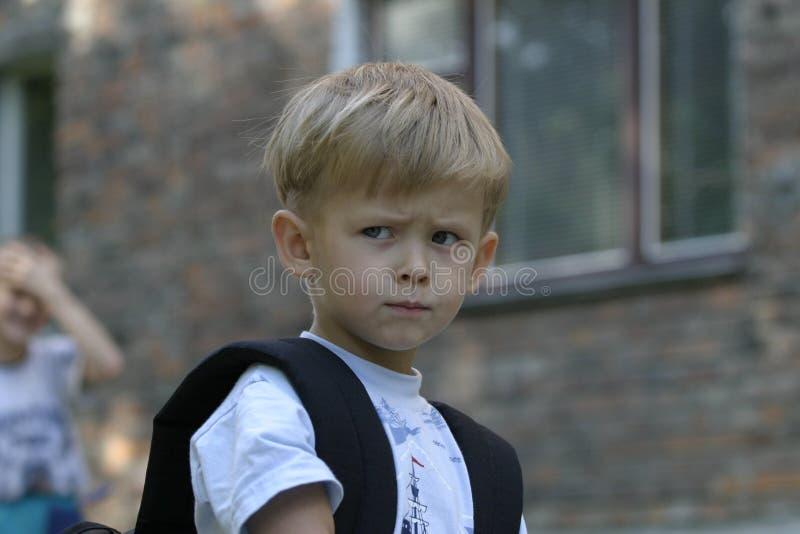 An upset Boy stock photos