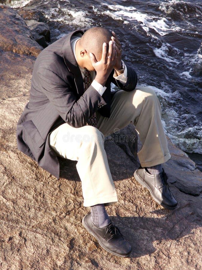 Upset business man stock photography