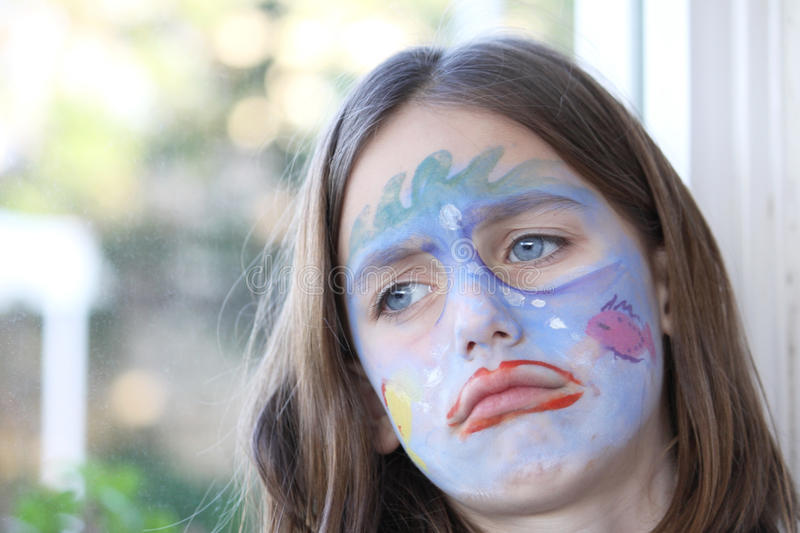 Download Upset child portrait stock image. Image of face, moody - 12908017