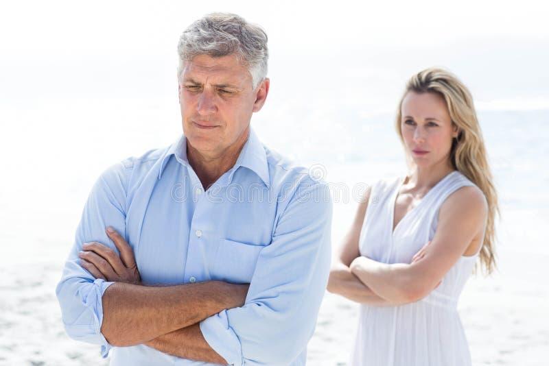 Upset couple having a disagreement royalty free stock photo