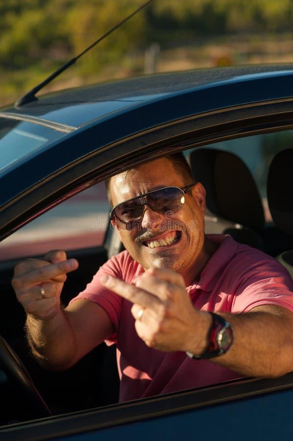 Upset driver stock photo
