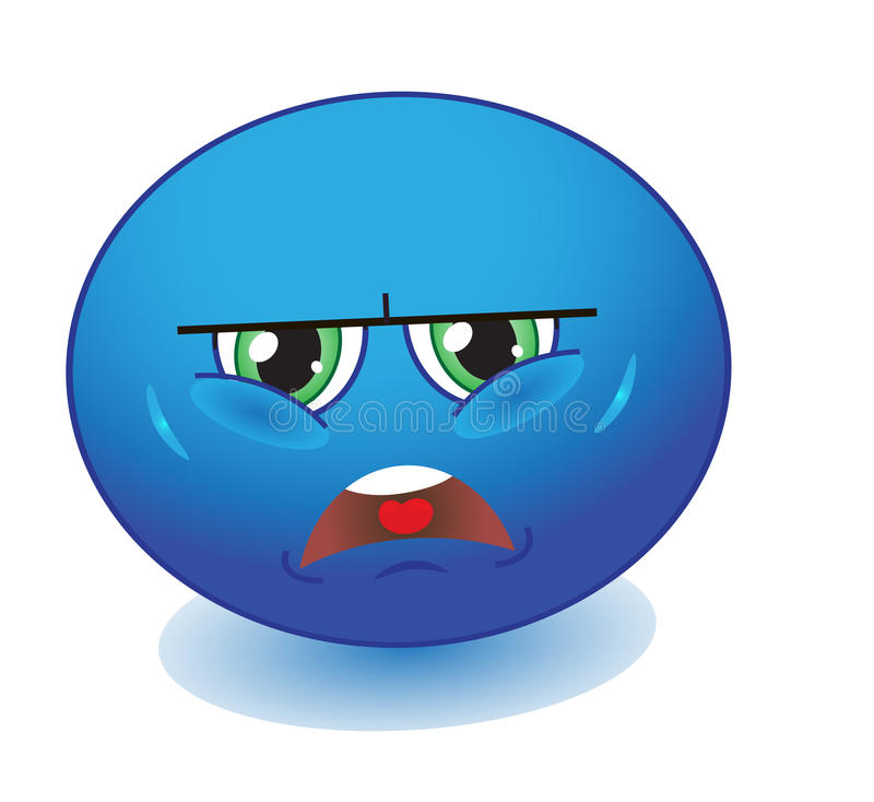 Upset emoticon stock illustration