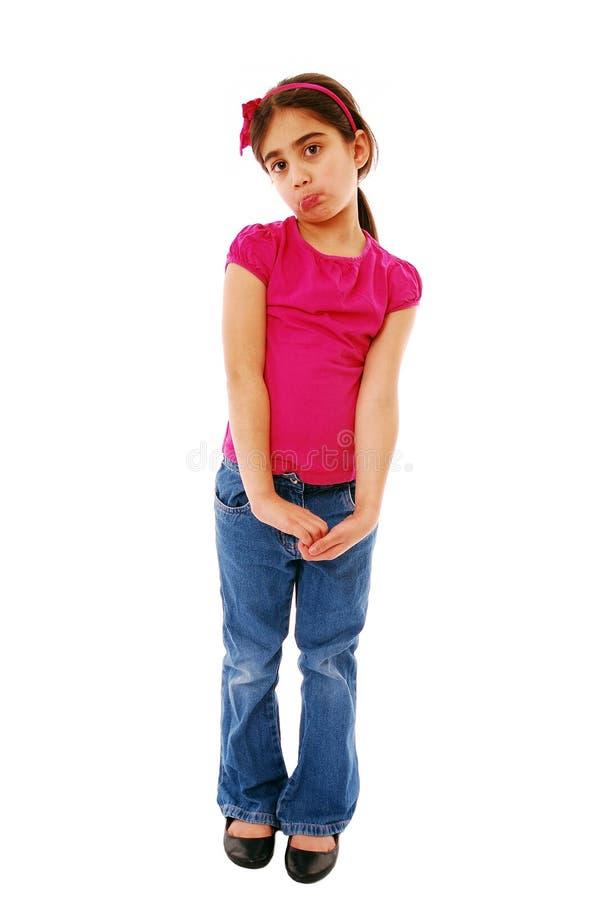 Upset girl stock photo