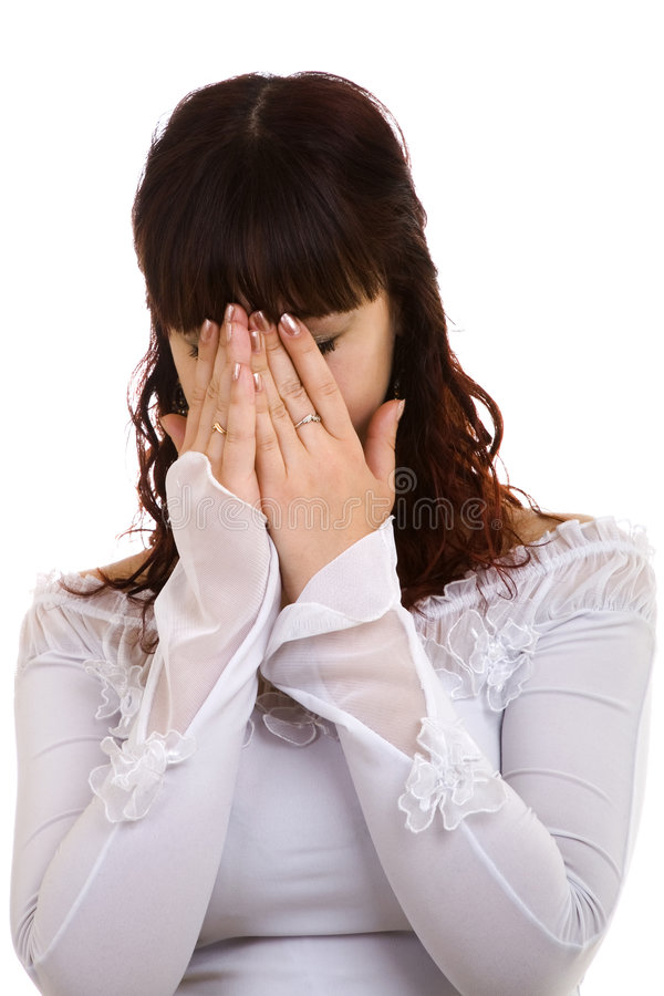 Upset girl stock images