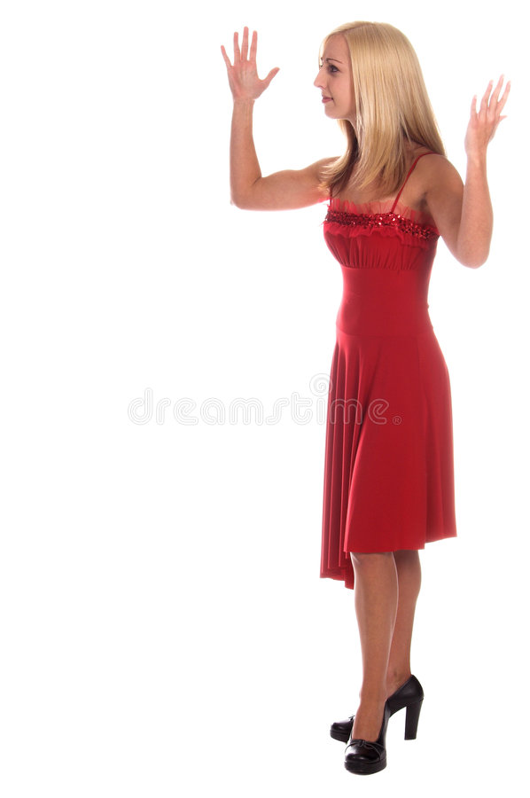 Download Upset Lady In Red Royalty Free Stock Photo - Image: 1754085