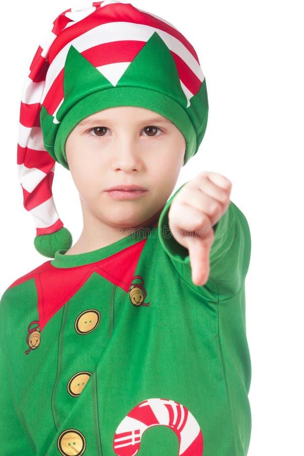 Upset little elf royalty free stock image