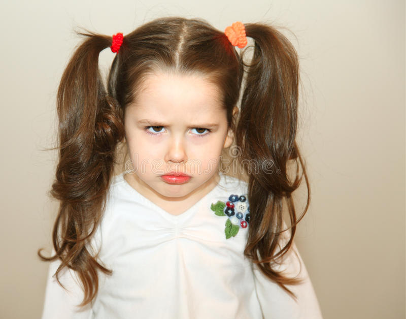 Download Upset little girl stock image. Image of face, person - 13888895