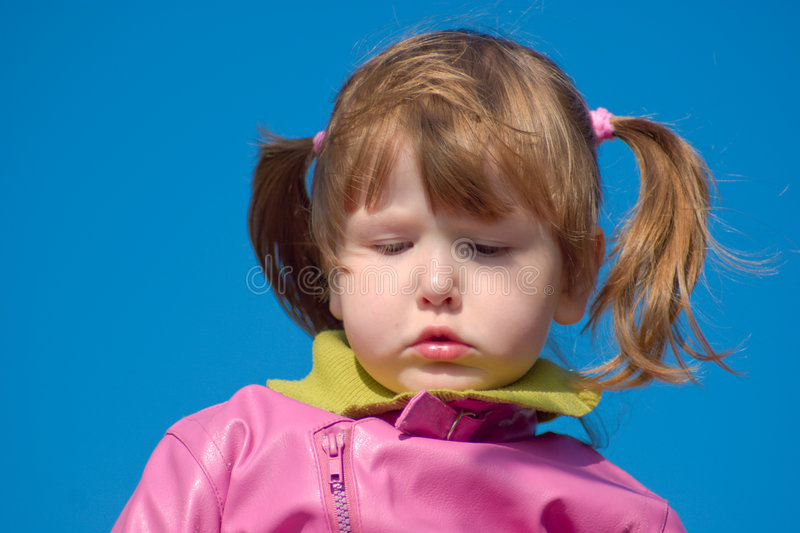 Download Upset little girl stock image. Image of scowls, relax - 3959211