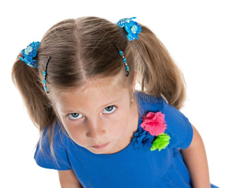 Upset little girl stock photography