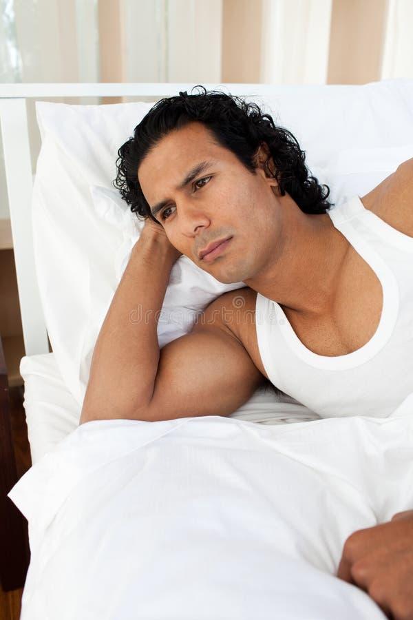 Download Upset Man Sleeping Separately Of His Girlfriend Stock Image - Image: 12099229