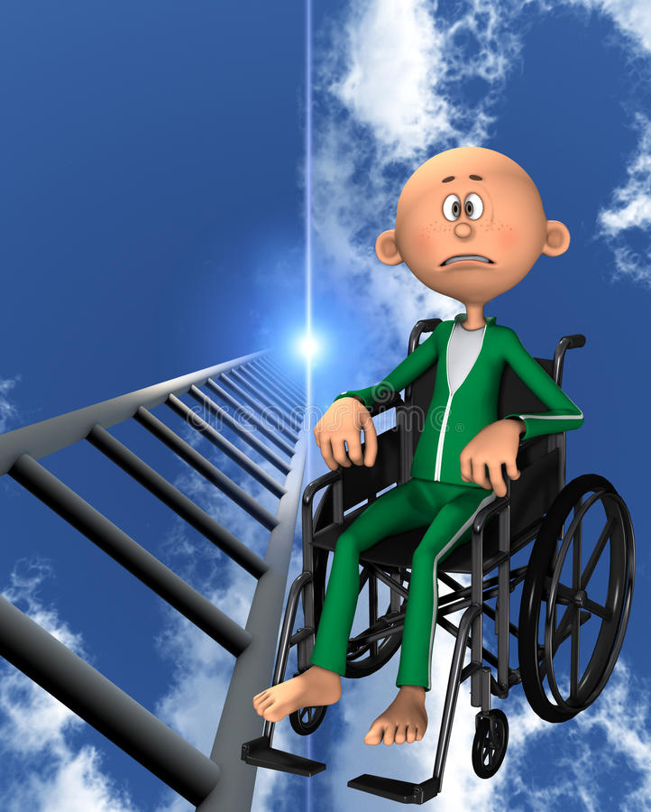 Upset Man In Wheelchair Royalty Free Stock Photography