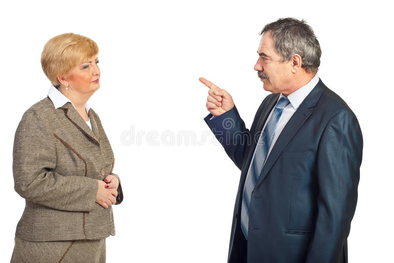 Download Upset Manager Accuse Employee Stock Image - Image of executives, accusatory: 18267865