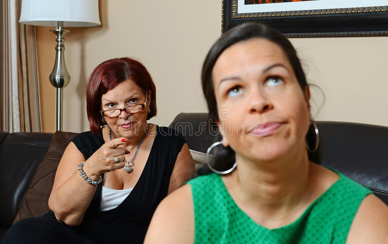 Upset mother stock photography