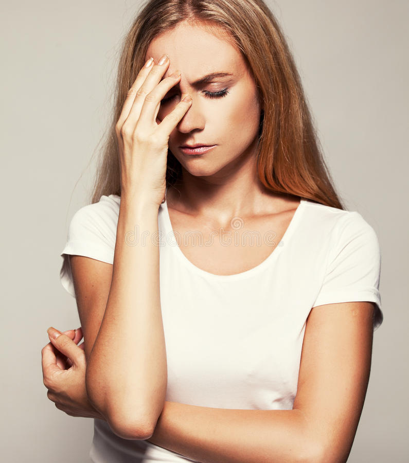 upset woman στοκ εικόνα
