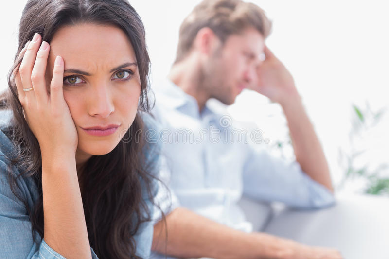 Download Upset Woman Holding Her Head Royalty Free Stock Image - Image: 31669836