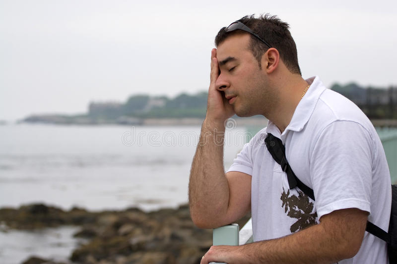 Download Upset Young Man stock image. Image of contemplative, depression - 10103199