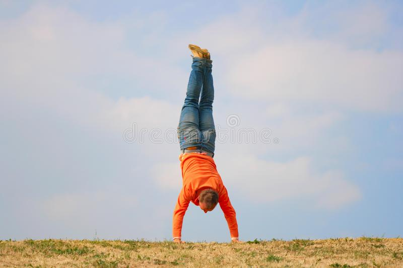 Upside down stock images