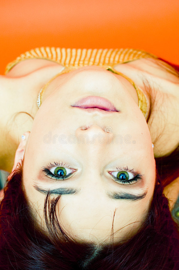 Upside Down Beauty royalty free stock photography