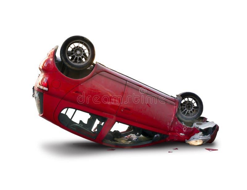 Upside down car royalty free stock photos