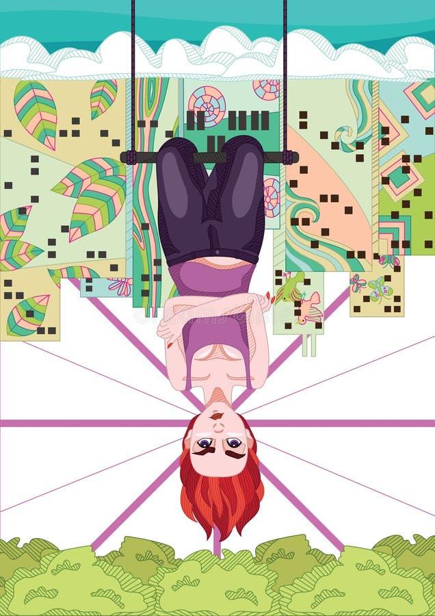 Upside Down royalty free illustration