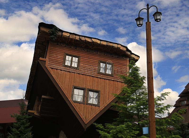 Upside Down House royalty free stock photos