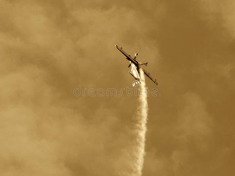 Upside-down plane stock photos